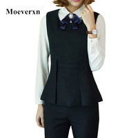 Two Piece Set Vest And Pants Women Sets Autumn OL Elegant Fashion Style For Women Costumes