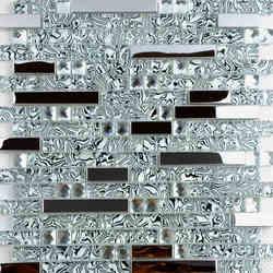 Wunderbar Neue Edelstahl Metall Kristall Glas Mosaik Fliesen Taille Spiegel  Hintergrund Tapete Dusche Küche Backsplash Dekoration