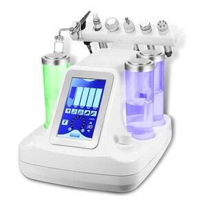 Image 2 - 6 In 1 Hydra Dermabrasie Aqua Schil Schoon Huidverzorging Bio Licht Rf Vacuüm Gezicht Reiniging Hydro Water Zuurstof Jet schil Machine