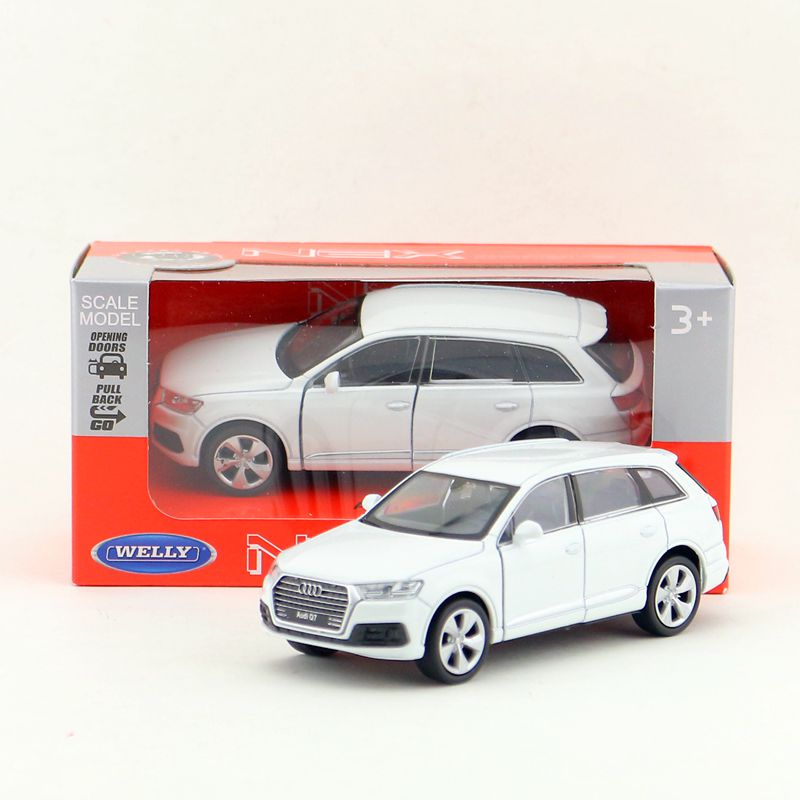 Welly DieCast Metal Model/1:36 Scale/Audi Q7 SUV Toy Car/Pull Back Educational Collection/for children's gift or for collection