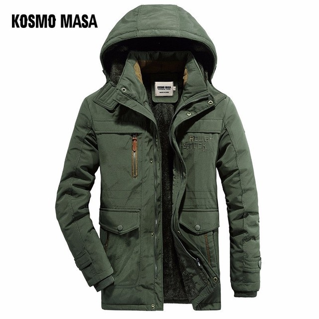 Special Offers KOSMO MASA Black Thick Long Jacket Men Parka Coats 2018 Winter Jackets Mens Cotton Hooded Casual Warm Down Parkas 6XL MP033