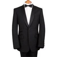 Custom Made Elegant Bridegrom Black Stain Shawl LapelWedding Tuxedo For MenBestmen 3 Pieces Suits Set Jacket