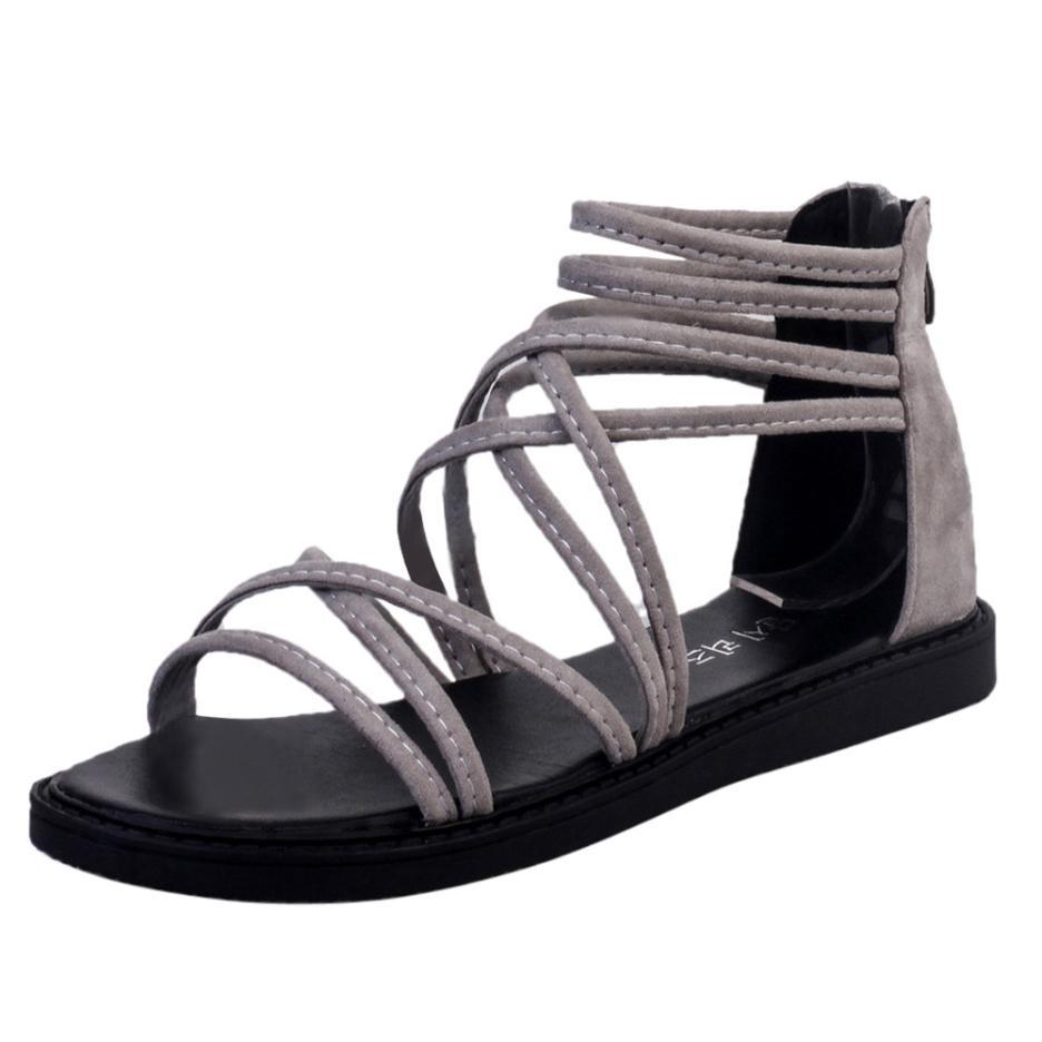 women Sandals Women Flat Shoes Bandage Bohemia Leisure Lady Casual Sandals Peep-Toe Outdoor Chaussures Femme 2018 hot sale 20