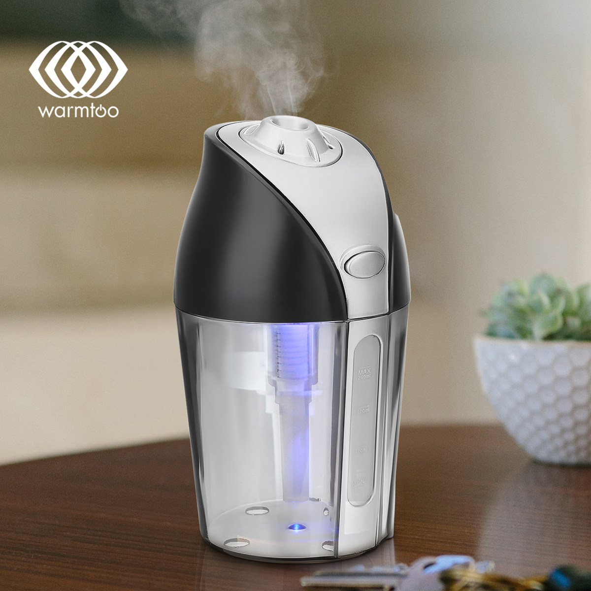 Warmtoo 250ML Multifunctional Ultrasonic Mini USB Air Humidifier Purifier Aroma Diffuser Atomizer For Car Home Office 5v led lighting usb mini air humidifier 250ml bottle included air diffuser purifier atomizer for desktop car