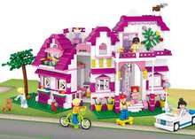 Sluban Pink Dream Series Sunshine Villa top Toys  Building Block Bricks Set Model Giocattoli Compatible With Legoe Girl Gifts