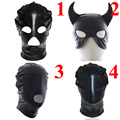 Fetish Fantasy Spandex Open Mouth Hood Mask Adjustable Zipper,Bdsm s&m Bondage Hood,Sex Toys For Couple