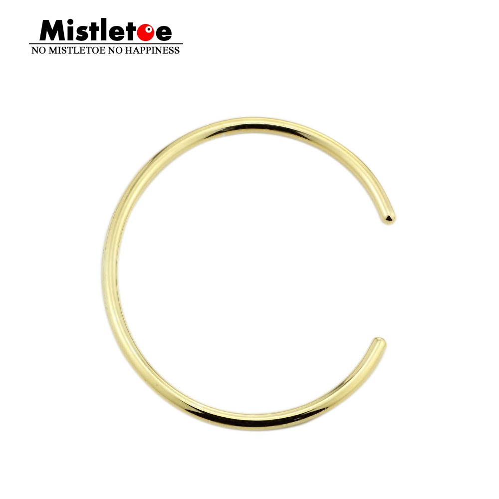 Genuine 925 Sterling Silver Gold color Silver Bangle Bracelet Fit European Troll Bracelet Jewelry Not Include