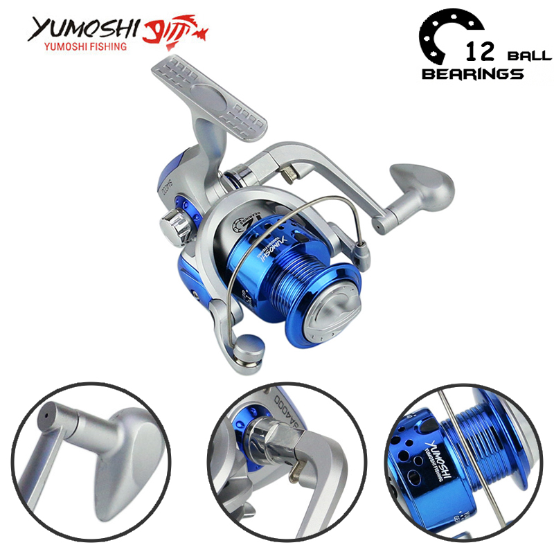 Yumoshi 5.5: 1 1000-7000 10BB Fishing Reel Spinning Reel Fishing Reels Carp china seadmed Carretilha de pesca molinete shimano