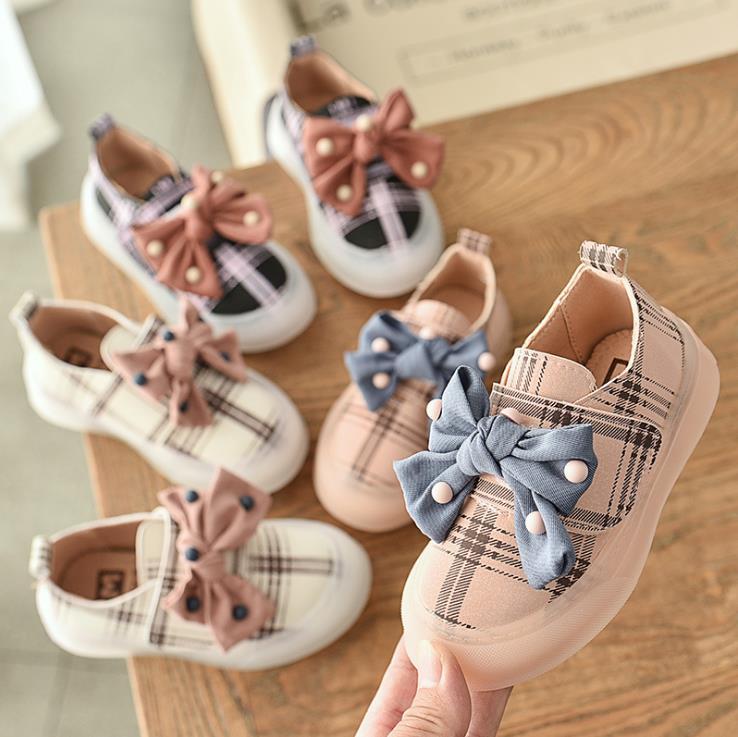 Children Girls Casual Shoes Girls  Shoes Flat Gride Bnowkot Shoes 21-30 3colors XGZ002  TX07