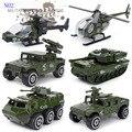 Детские игрушки автомобиля литья под давлением и игрушки 1 : 87 сплава металлов костюм 6 шт. модель автомобиля мальчик игрушки фри грузовик военная политика автомобилей игрушки