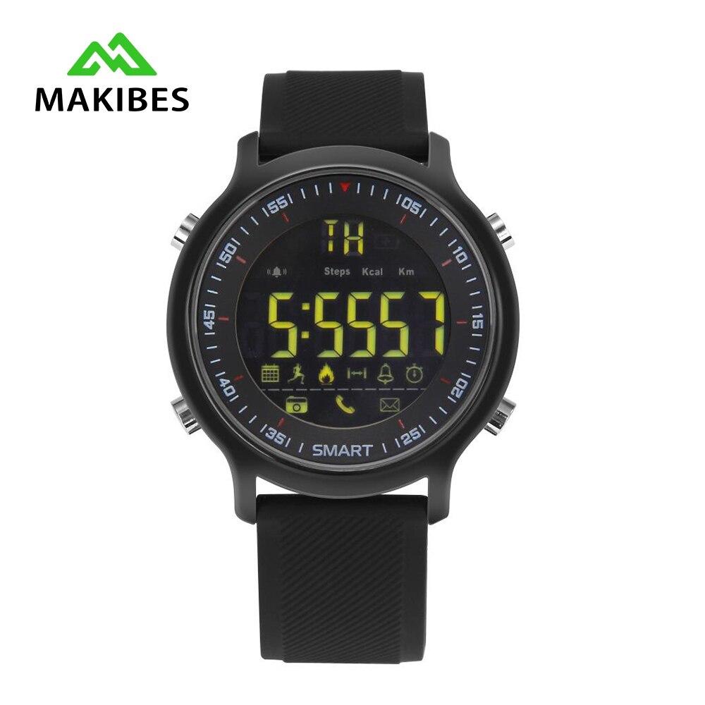 imágenes para Makibes EX18 Pulsera Inteligente BT4.0 5ATM Impermeable reloj Inteligente Pulso Deportes Gimnasio Rastreador usable dispositivos para Android iOS