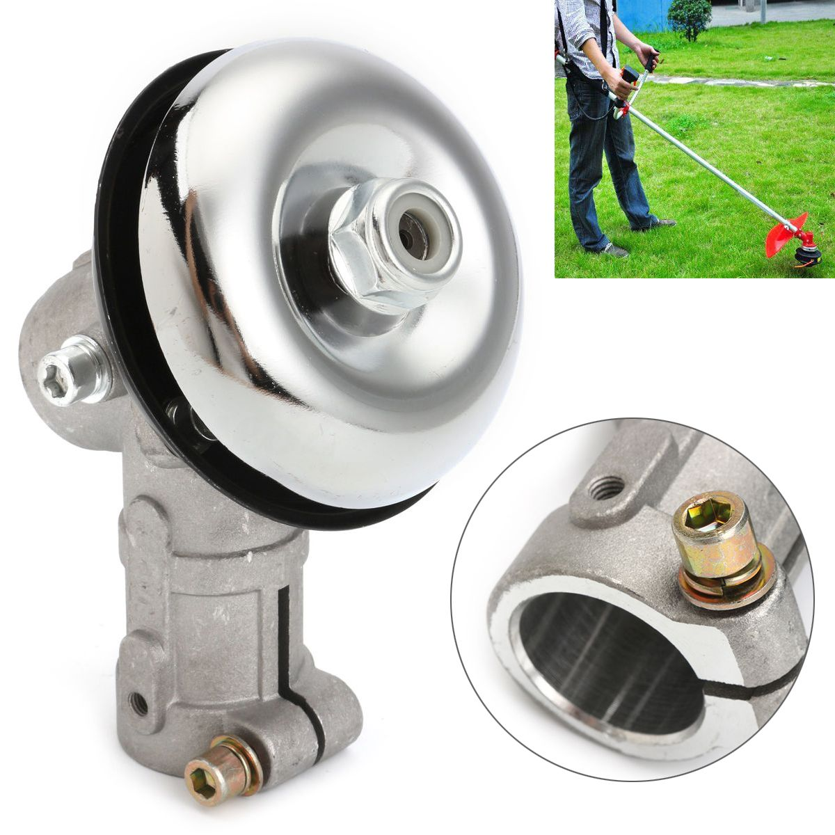 High Quality 26mm 7 Tooth Splin Gearhead Gearbox for Trimmer Strimmer Brush Cutter Lawnmower Mayitr Garden Tools top quality 7 tooth 26mm splin gearhead gearbox for strimmer brush cutter replacement garden tools mayitr
