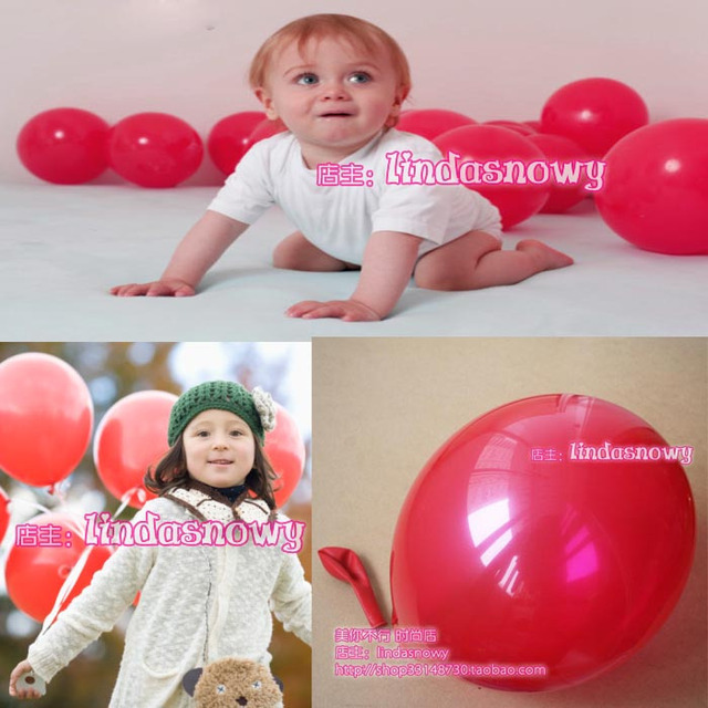 Balloon style circle to balloons birthday transparent red 10 thick matt 20
