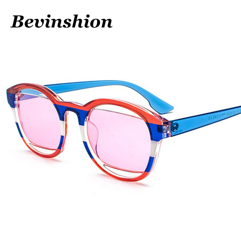 2019 New Style New Colorful Round Sunglasses Women Vintage Cool Harajuku Style Flag Red Pink Yellow Frame Retro Brand Designer Sun Glasses Men Utmost In Convenience