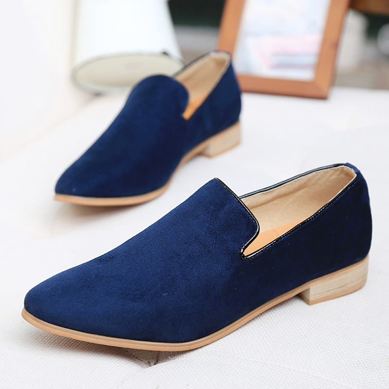 Fashion Slip On Men Velvet Loafers,Spring and Autumn Men Leather Shoes, Suede Loafers Mocassin Men Flats