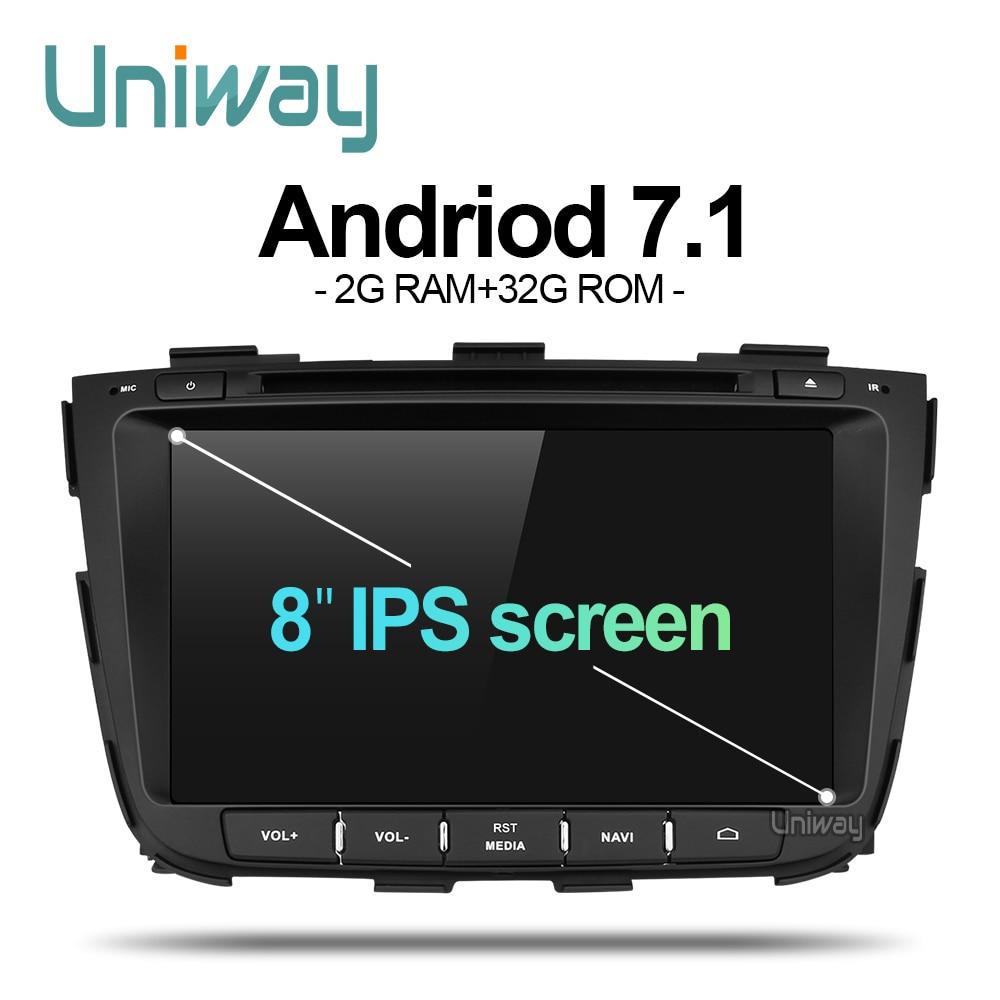 uniway ZSLT8071 2G 32G android 7 1 car dvd for kia sorento 2013 2014 car radio