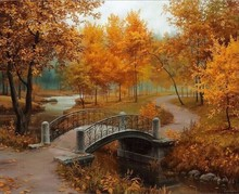 Check Discount Autumn Landscape DIY Painting By Numbers Kits Drawing Painting By Numbers Acrylic Paint On Canvas For Room Artwork