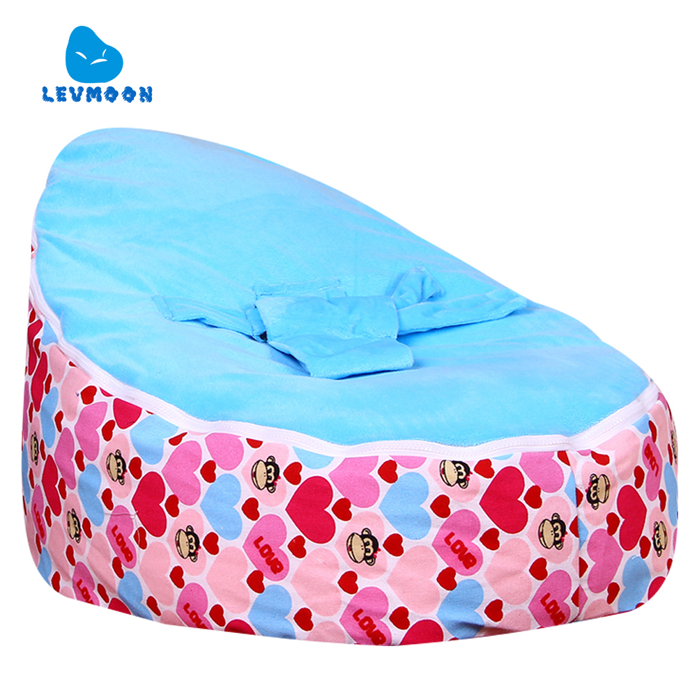 Levmoon MediumMouth Monkey Bean Bag Chair Kids Bed For Sleeping Portable Folding  Child Seat Sofa Zac Without The Filler