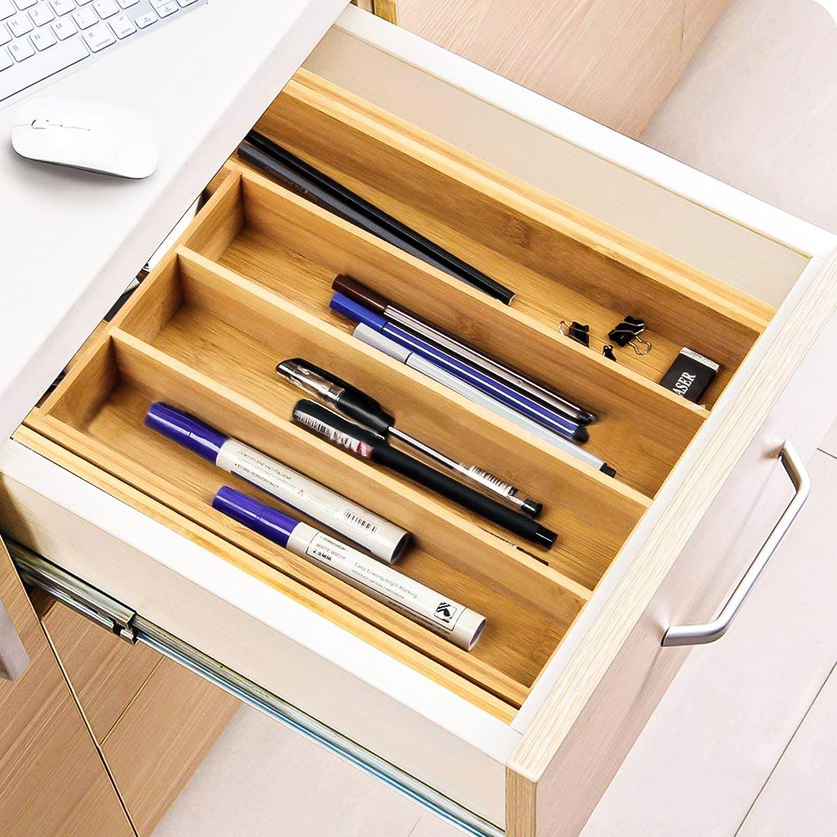 Organizador de gavetas expansível, utensílio de talheres,