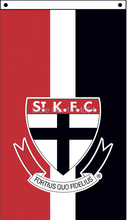 St Kilda Saints vertical Flag 150X90CM AFL 3X5FT Banner 100D Polyester grommets custom009, free shipping