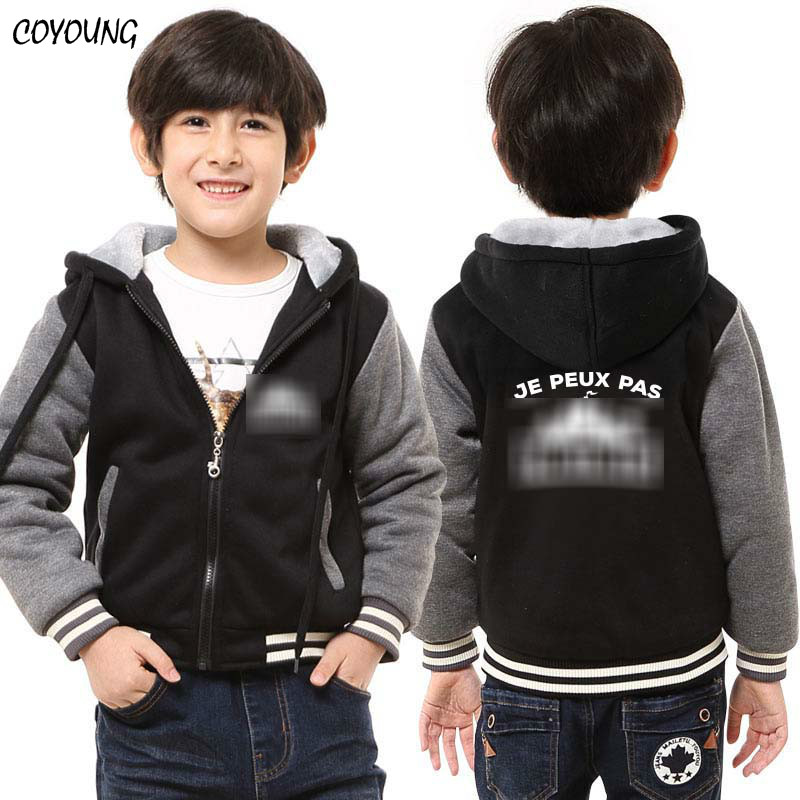 COYOUNG Brand New Games Battle Royale Children Winter Thicken Hoodies Gray Red Blue Boys Hoody Zipper Sweatshirts Coat Jacket