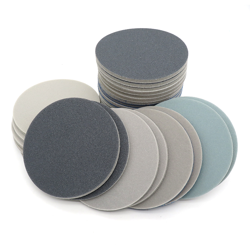 "5/"" 6/""×5mm 6 Holes Wet Dry Sponge Sanding Disc 300~2000 Grit Sandpaper Cellphone"