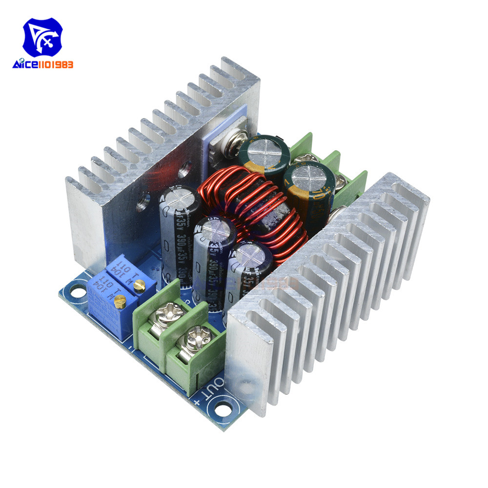 diymore <font><b>300W</b></font> 20A <font><b>DC</b></font> Buck Converter Step Down Power Supply Module Constant Current LED Driver Heatsink Short Circuit Protection image