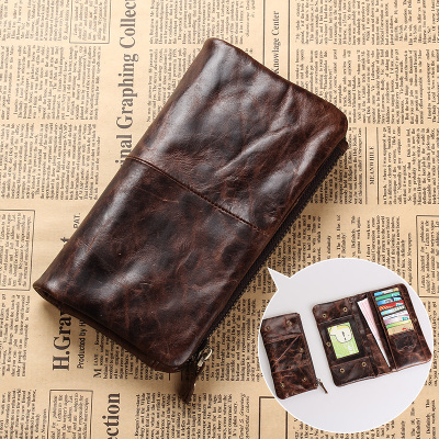 मवेशी डिजाइन पुरुष आयोजक वॉलेट बिफॉल्ड बिजनेस क्रेडिट कार्ड केस फैशन चेकबुक लॉन्ग वॉलेट स्नैप पर्स क्लच बैग 1029