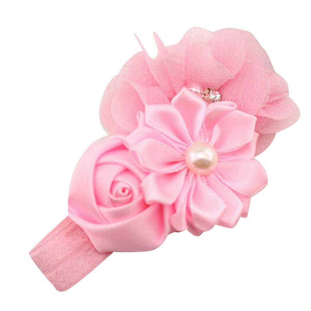 2017 Lace Headband Kids Flower Pattern Hair Accessories For Girls Princess Hairband Accessoire Head Wreath drop shipping JY10A