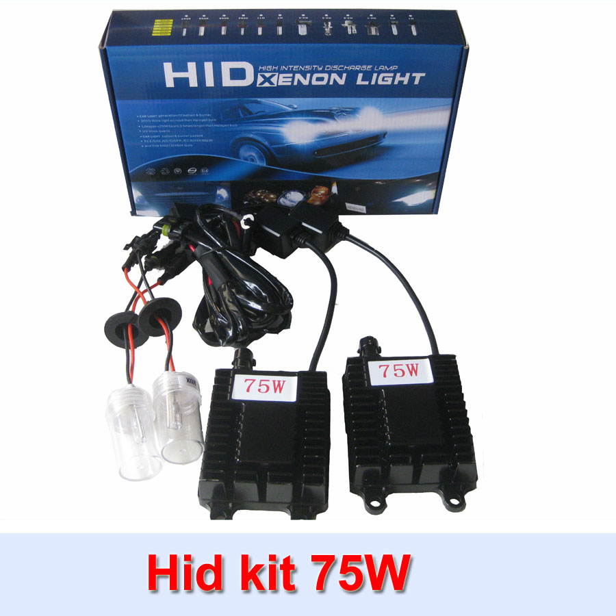 Car headlight high power hid xenon kit 75w ballast  h1 h3 h4 h7 h8 h9 h1 hid conversion kit free shipping baby clothes winter keep warm flannel baby rompers baby boy girl coat next romper newborn kids clothes jumpsuit set