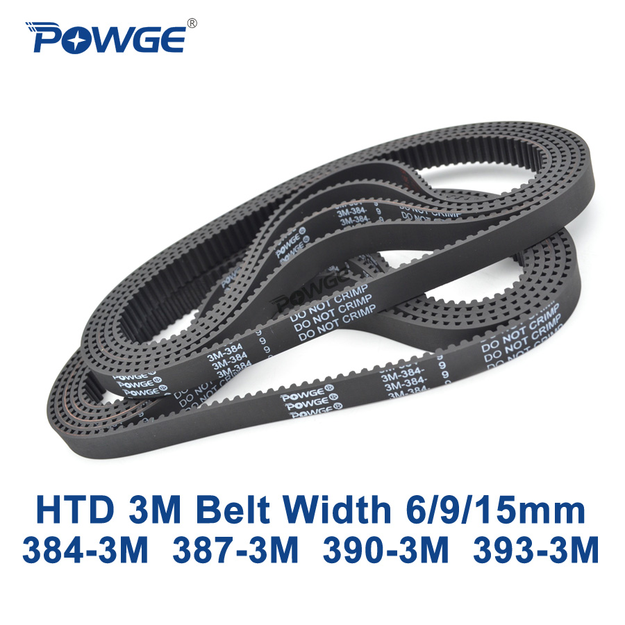 384-3M-06 HTD Timing Belt 384 mm Long 6mm wide /& 3mm Pitch