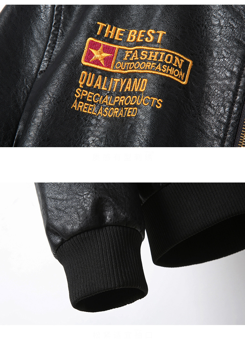 HTB1t CJdgmH3KVjSZKzq6z2OXXal Men's Leather Jackets and Coats Male Motorcycle Leather Jacket Casual Slim Brand Clothing V-Neck Collar Coats