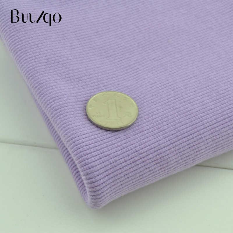 Buulqo 2x2 20 см хлопчатобумажная трикотажная ткань в рубчик эластичная хлопковая ткань для DIY швейное производство одежды аксессуары ткань