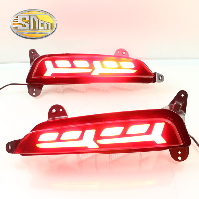 For Hyundai Creta 2014 2015 2016 SNCN Multi-function LED Rear Bumper Light Rear Fog Lamp Brake Light Turn Signal Light Reflector sncn multi function led reflector lamp rear fog lamp rear bumper light brake light for toyota vellfire 2005 2014