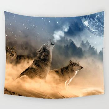 Musim Dingin Serigala Permadani Gantung Dinding