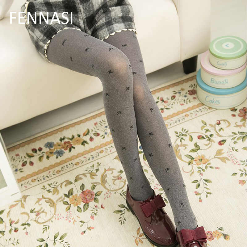 82b24b4b5 Detail Feedback Questions about FENNASI Womens Tights Warmer Gray Stockings  Velvet Fall Thicken Pantyhose Slim Japanese Girls Cute Opaque Footed Tights  on ...