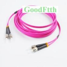 Fiber Optic Patch Cords ST ST OM4 Duplex GoodFtth 1 15m