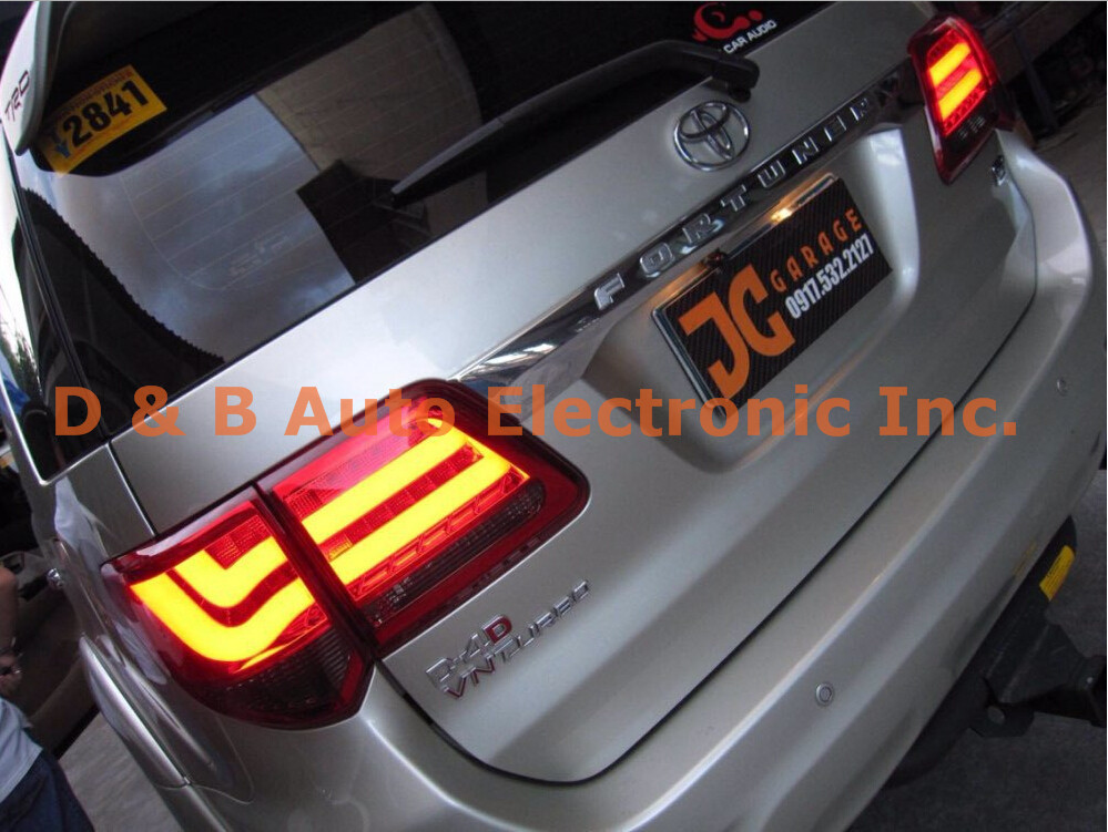 1pair hot sale light bar led rear lamps led tail lights rear lights 1pair hot sale light bar led rear lamps led tail lights rear lights for toyota fortuner 2012 in signal lamp from automobiles motorcycles on aloadofball Images