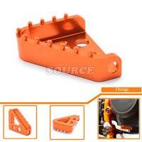 Motorcycle Billet Rear Brake Pedal Step Tips Orange Color Freio Traseiro Pedal Passo Das For KTM