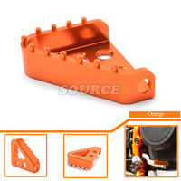 Motorcycle Billet Rear Brake Pedal Step Tips Orange Color Freio Traseiro Pedal Passo Das For KTM