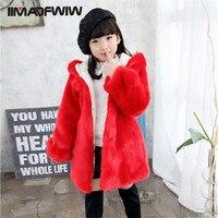 2015 New Winter Coat Girls Plus Velvet Thickened Winter Female Baby Wool Sweater Children Faux Fur