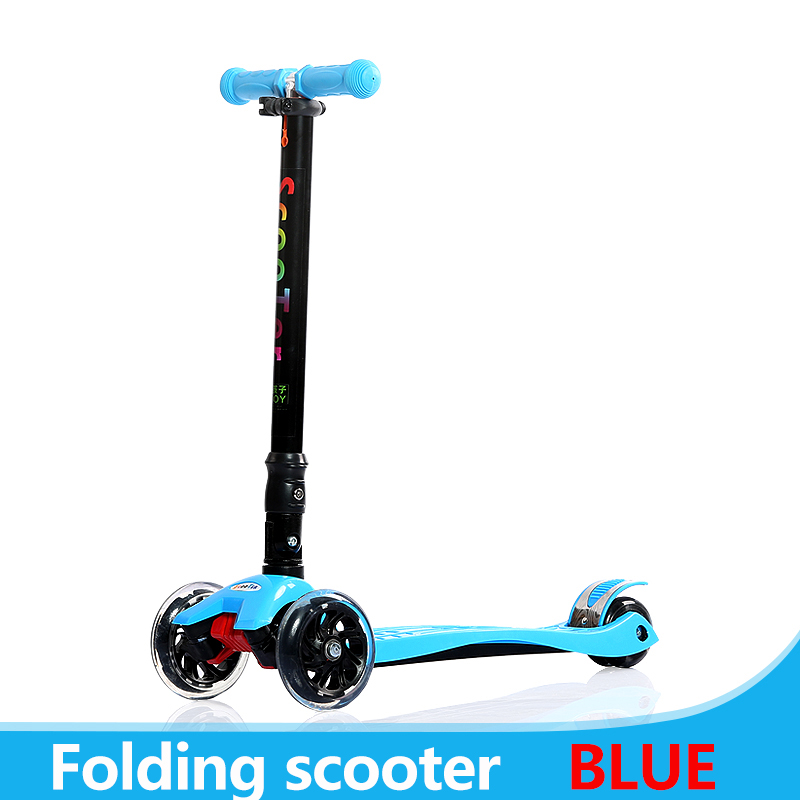 Фото Children Scooter 3 Wheel Folding Flash Swing Car Lifting 2-15 Years Old Baby Stroller Ride Bike Vehicle Outdoor Toys