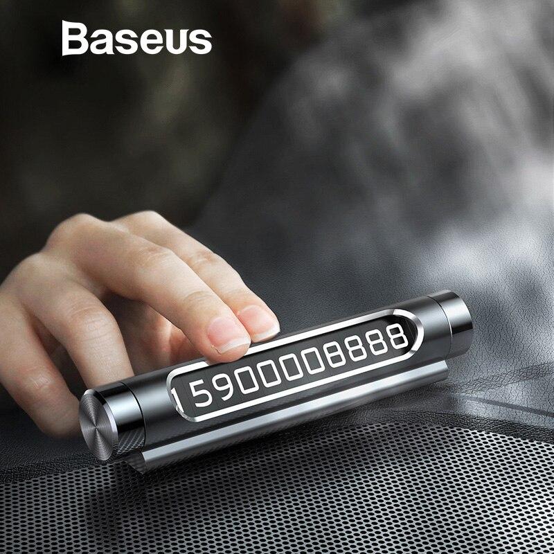Baseus Auto Temporäre Parkplatz Karte Telefon Halter Leucht Telefon Anzahl Platte Auto Aufkleber Schublade Stil Auto-Styling Rocker Schalter