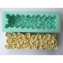 Wholesale beautiful rose flowers and swan design silicone toast soap mold molds silica gel