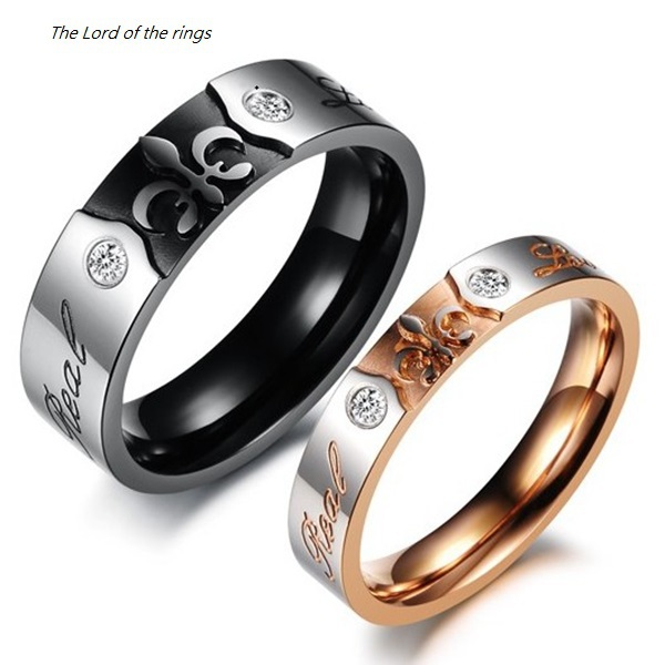 Religious Jewelry Fleur De Lis The Lord Of Rings Stainless Steel His And Hers Promise Ring Sets Real Love S Wedding Band In From