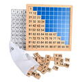 BOHS Madeira Auxiliares de Ensino Montessori Matemática 1-100 Números Consecutivos Placa Placa de Contagem Brinquedo