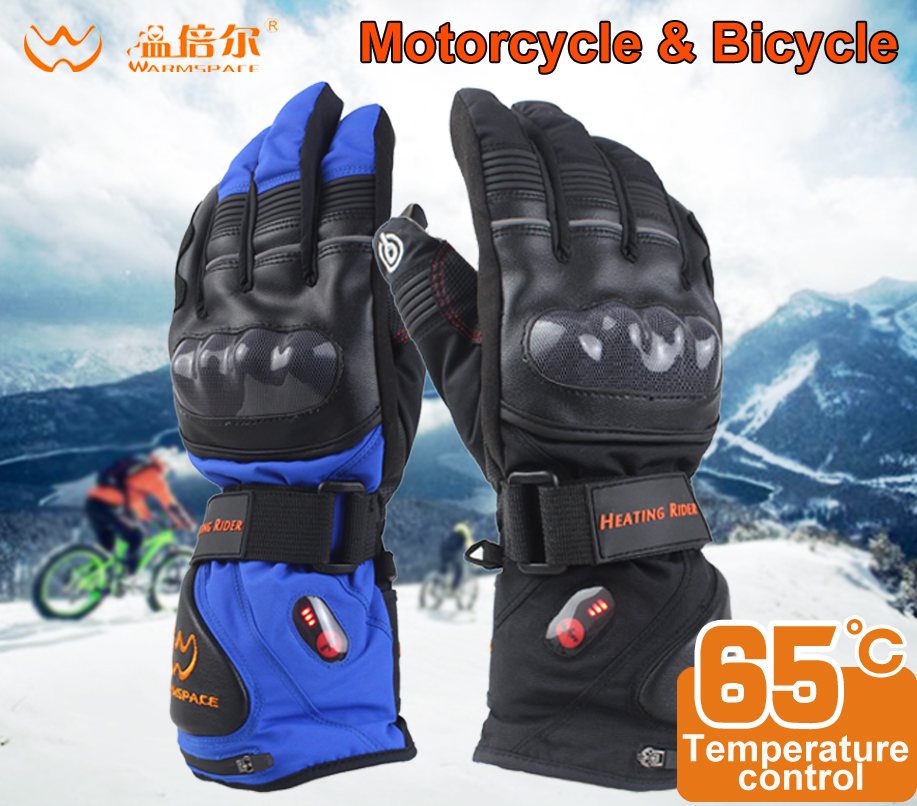Motorcycle gloves heated riding racing bicycle Ski winter Outdoor Waterproof Sports Electric battery Heating Gloves Touchscreen savior outdoor motorbike battery heated glove fishing waterproof riding racing heating man warming 40 65 degree leather en13594