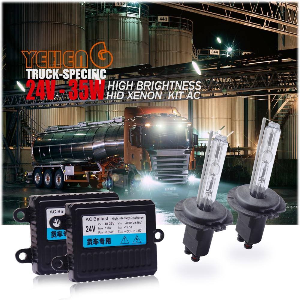24V35W HID Xenon lamp for trucks H1 H7 H4 H11 H27 HB3 HB4 3000K 4300K 6000K