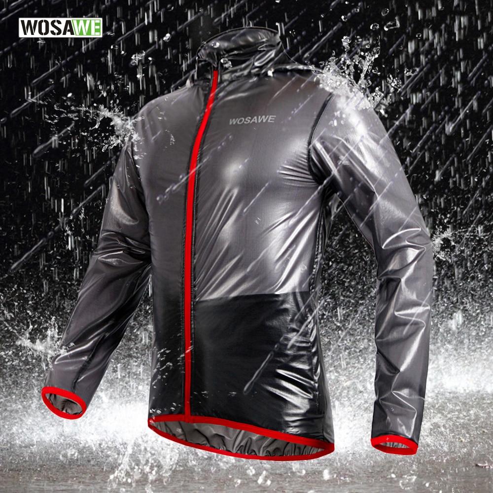 WOSAWE Cycling Jacket Multi function Rain Jackets Waterproof Windproof Mtb Bike Bicycle Jersey Ciclismo Rain coat with hood