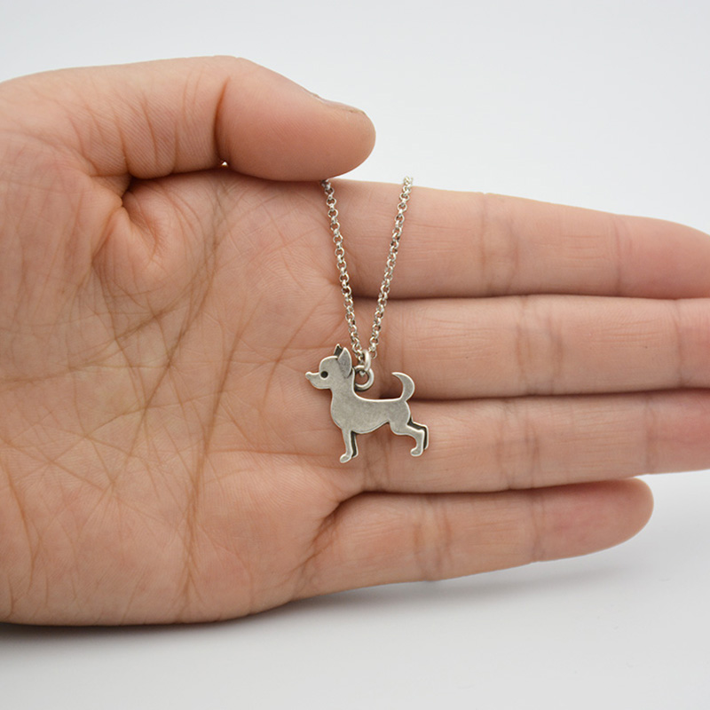 Fei Ye Paws Stainless Steel Rantai Pernyataan Chihuahua Dog Charms - Perhiasan fashion - Foto 5